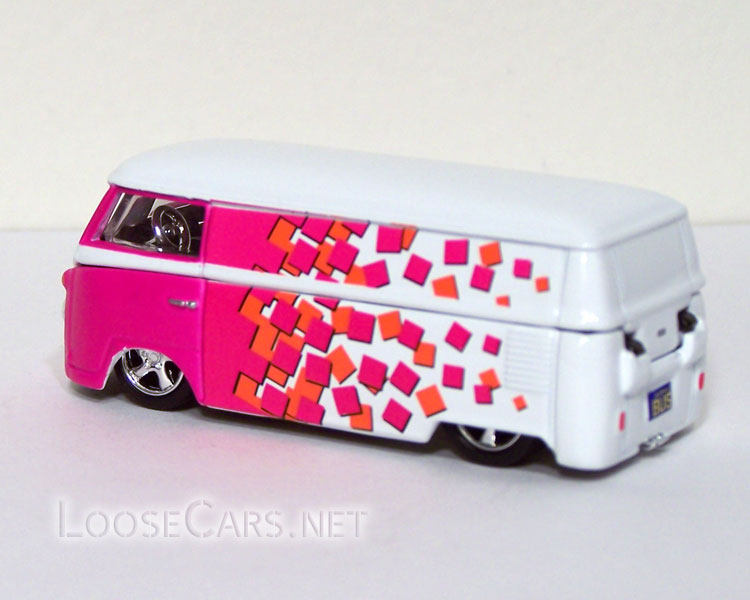 Vintage Volkswagen Microbus: Pink and White Checker Rear