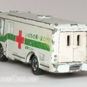 Tomica Isuzu Bus: 1979 No. 8 Isuzu Blood Bank Car Rear Left