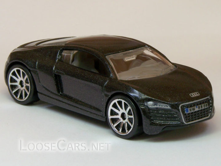 Hot Wheels Audi R8: 2008 #3 First Editions (Charcoal Grey)