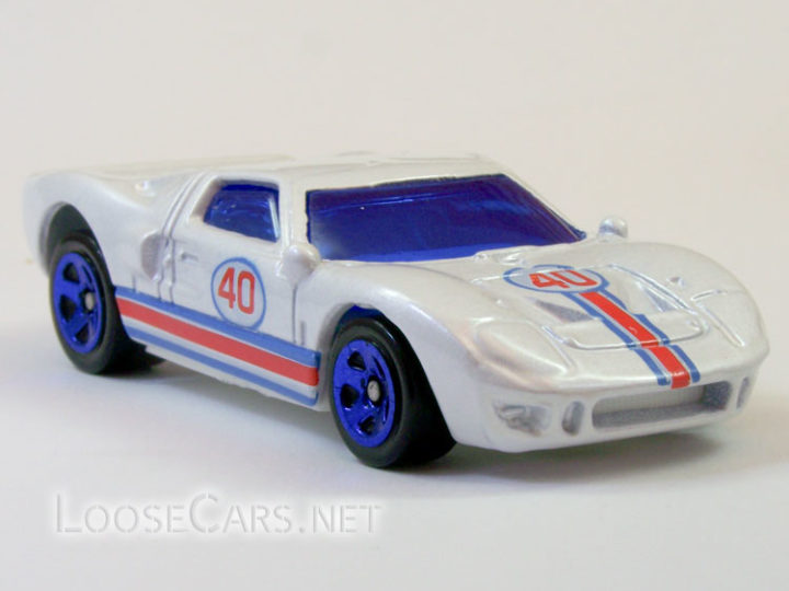 Hot Wheels Ford GT-40: 2008 #95 Web Trading Cars (Pearl White)