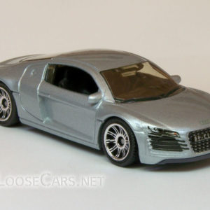 Matchbox Audi R8: 2007 #14 MBX Metal (Silver) Front Right