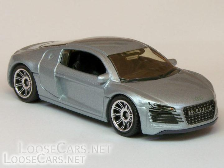 Matchbox Audi R8: 2007 #14 MBX Metal (Silver)