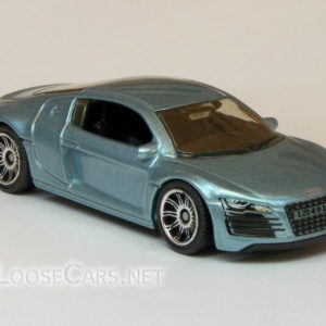 Matchbox Audi R8: 2007 #14 MBX Metal (Light Blue) Front Right