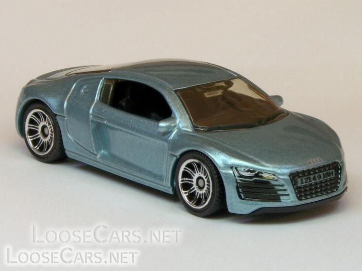 Matchbox Audi R8: 2007 #14 MBX Metal (Light Blue)