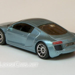 Matchbox Audi R8: 2007 #14 MBX Metal (Light Blue) Rear Left
