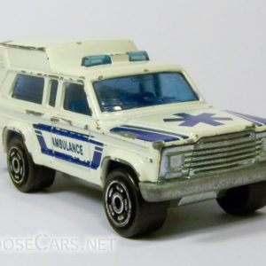 Majorette Jeep Cherokee Ambulance: 269 White and Blue Front Right