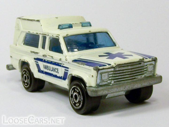 Majorette Jeep Cherokee Ambulance: 269 White and Blue