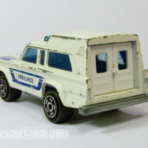 Majorette Jeep Cherokee Ambulance: 269 White and Blue Rear Left
