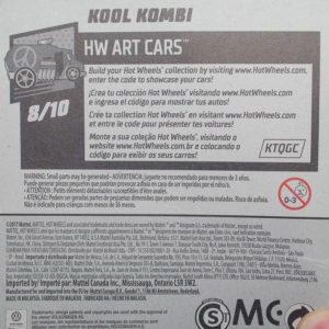 Hot Wheels Kool Kombi: 2018 #353 (Grey) Card Rear