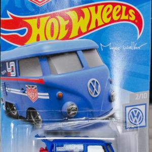 Hot Wheels Kool Kombi: 2019 #136 (Blue) Card