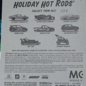 Hot Wheels VW Golf: 2015 Holiday Card Rear