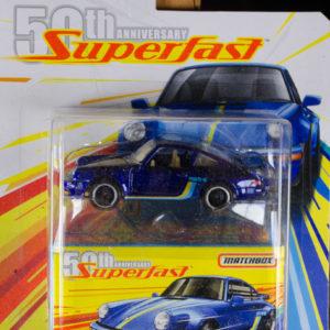 Matchbox 80 Porsche 911 Turbo: 2019 50th Superfast Card
