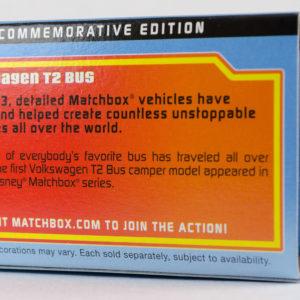 Matchbox Volkswagen T2 Bus: 2013 Matchbox 60th Anniversary Box Rear