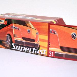 Matchbox Volkswagen Microbus: 2005 Superfast #31 Orange Box